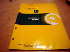 John Deere 1850 1860 Field Conditioner Operator's Owner's Manual Book Jd