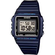 New Genuine CASIO W215H-2A DIGITAL SPORTS Unisex Quartz Watch 50M Alarm Blue
