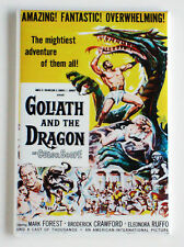 Goliath and the Dragon FRIDGE MAGNET (2 x 3 inches) movie poster