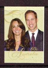 AUSTRALIA 2011 WILLIAM AND KATE WEDDING SELF ADHESIVE UNMOUNTED MINT