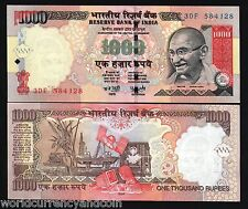 INDIA 1000 1,000 RUPEES P100 2008 GANDHI OIL RIG UNC INDIAN CURRENCY MONEY NOTE