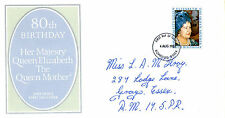 4 AUGUST 1980 QUEEN MOTHER 80th BIRTHDAY PO FIRST DAY COVER ROMFORD FDI