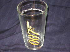 JAMES BOND 007 TOMORROW NEVER DIES DRINKING GLASS WITH GUN LOGO NEVER USED NEW!!