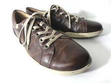 JOSEF SIEBEL EUR 38 US 8M Brown Leather Lace Up Oxford Fashion Sneaker Shoes