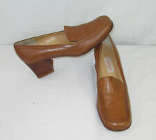 Coach Womens Shoes Size 8AA  Loafers Brown Distressed Leather Italy Mistmatch