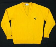 Vtg Glen Abbey Mens Yellow Knit Golf Sweater Sz 44