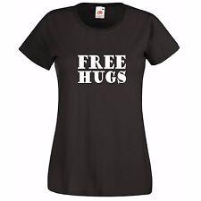 FREE HUGS...FUNNY LADIES WOMAN T-SHIRT FASHION TOP GIFT PRESENT BIRTHDAY