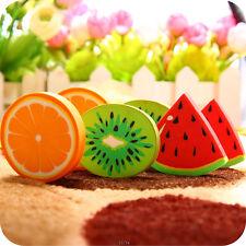 2x Kids School Supplies Chic Fruit Eraser Rubber Watermelon Oranges Kiwi Rubbers