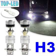 H3 6000K Bright White LED Fog Driving Lights Bulbs DRL Headlight Kit High Power