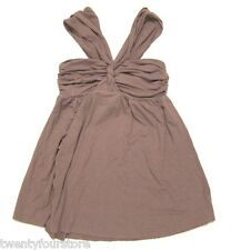 LOVE YAYA Knit Halter Top in Taupe Brown sz P / XS