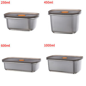 New Anti-Rust Metal Bento Box w/PP Seal Lid Lunch Box Leak-Proof Food Containers