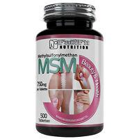 MSM 500 Tabletten je 750mg Die preiswerte Alternative Knorpel Knochen