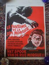1954 Fantome de la rue morgue Phantom of the Rue Morgue Poster Rolled  54cmx35cm