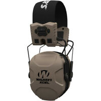 Walker's Xcel 100 Digital Electronic Muff Ear Protection with Voice Clarity, Tan