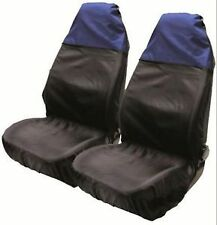 TOYOTA LAND CRUISER 2010-->> Nylon Seat Cover Protectors Black / Blue 1+1