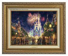 Thomas Kinkade Main Street, U.S.A.® Walt Disney World® Classic (Gold Frame)