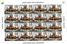 UNMOUNTED MINT 2017 EUROPA SET SHEETLETS - TURKISH CYPRUS - CASTLES