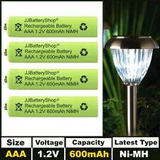 AAA Rechargeable Solar Light Batteries 1.2v 600mAh NiMH for Garden Lights UK