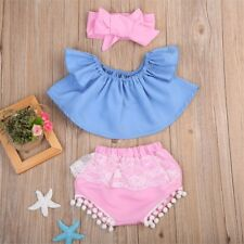 Newborn Toddler Baby Kid Girl Outfit Dress Tops T-Shirt+Floral Pants Clothes Set