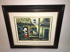W. James Original SIGNED Wood FRAMED OIL PAINTING On Canvas 8x10 Parisian Paris