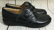 Clarks Artisan Unstructured Un. Esma Black Leather Loafers Shoes Size 6 ½ M