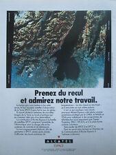 6/1990 PUB ALCATEL ESPACE SPACE SATELLITE SPOT 2 ORIGINAL FRENCH AD