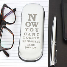 Personalised Eye Exam Novelty Glasses Case For Him or Her Birthday Fathers Day