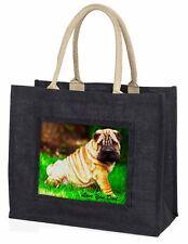Shar-Pei Dog 'Love You Dad' Large Black Shopping Bag Christmas Prese, DAD-109BLB