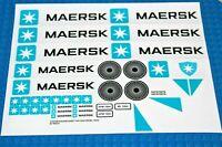 Ersatz Aufkleber/Sticker Set für LEGO Modell 10219 (2011) Maersk Container Train