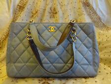 Authentic CHANEL Limited Ed MAXI GST Jean blue Grand Shopper Bag Purse T268