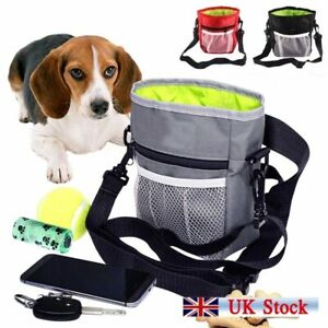 Dog Treat Pouch with Poop Bag Dispenser and Waist Belt for Outdoor Pet Training