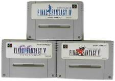 """NINTENDO SUPER FAMICOM """" FINAL FANTASY IV V VI """" FF 4 5 6 SQUARE SNES SFC JAPAN"""
