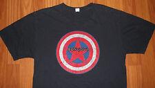 Small BON JOVI The Circle Tour Captain America Marvel Comics concert T-Shirt