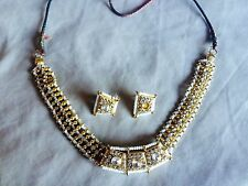 Crystal Gold Necklaces Asian Jewellery