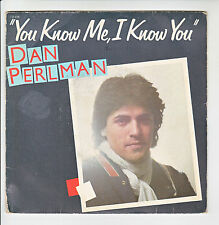 "45 giri Dan PERLMAN Vinile SP 7"" YOU KNOW ME I KNOW YOU - FLARENASCH 721618"