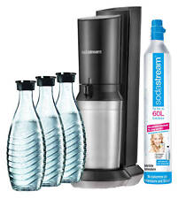 SODASTREAM WASSERSPRUDLER CRYSTAL 2.0 +CO2-ZYLINDER+ 3 X GLASKARAFFE MEGA NEU