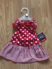 SIMPLY WAG Red and White Polka Dot Strappy Dress Puppy/Dog medium