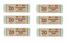 120x Compostable 5L Kitchen Caddy Biodegradable Food Garden Waste Bin Bags