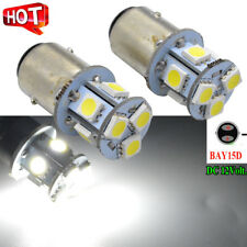 2x 380 BRAKE LIGHT & STOP AND TAIL CAR BULBS LAMPS 12v P21/5W BAY15D 5050 8smd