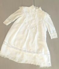 Vintage Jessica McClintock 3t White Lace Dress Holiday Girls Victorian