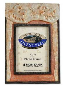 SALE Western Decor Picture Frame with Running Horses Montana Silversmiths