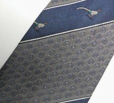 Gray Blue Striped Peregrine Silk Tie