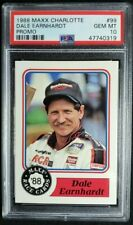 1988 Maxx Racing #99 Dale Earnhardt Rookie Card Promo RC PSA 10 Gem Mint Nascar