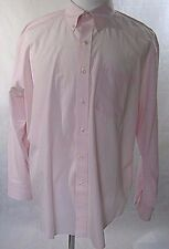 IZOD Men's Button Down Casual/Dress Pink Shirt Size Extra Large Tall Big Cotton