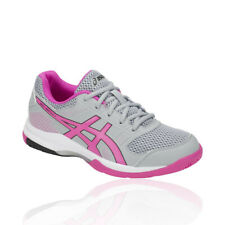 Asics Womens Gel-Rocket 8 Indoor Court Shoes Grey Pink Sports Squash Badminton