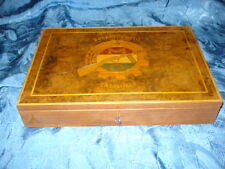 ANTIQUEUNIQUE HISTORY BOKANYI DEZSO BATTALION LARGE WOOD BOX JEWELRY CIGGAR
