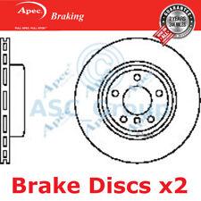 2 X Apec BRAKING 325mm Belüftet OE Qualität Ersatzteil Bremsscheiben (