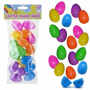 Easter Egg Hunt Accessories and Games - Fillable Eggs 18 Pack 4.5cm