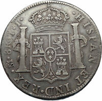 1819 MEXICO SPAIN King FERDINAND VII BIG Mexican Silver 8 Reales Coin i73764