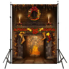 5x7ft Classic Christmas Candle Photography Vinyl Cloth Props Backdrop